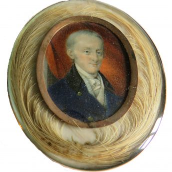 Portrait miniature of a gentleman painted by Scottish artist John Bogle