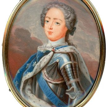 Miniature portrait of King Louis XV