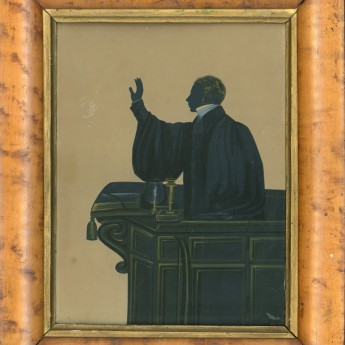 Silhouette of Rev Samuel Jones