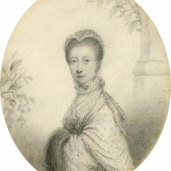Plumbago portrait of a lady, circa 1780