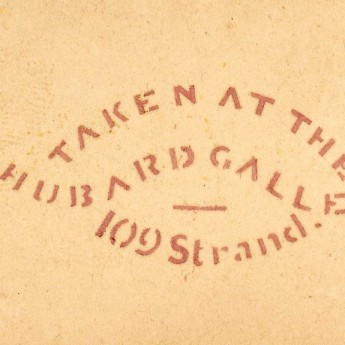 Hubard Gallery stencil stamp in use during the 1830s