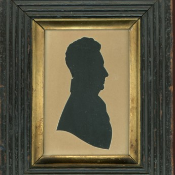 Hubard Gallery cut silhouette of a gentleman