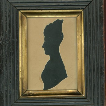 Hubard Gallery cut silhouette of a lady