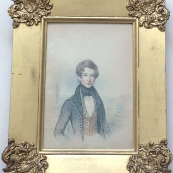 Watercolour portrait of Mark Anthony Lawton painted by William Moore in 1834