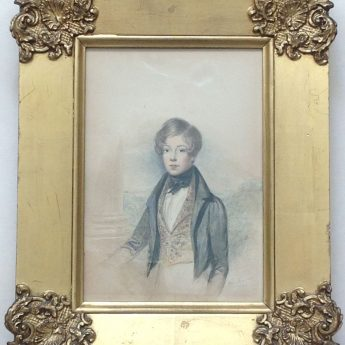 Watercolour portrait of William Lawton painted by William Moore in 1834