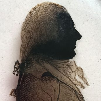 Silhouette of John Backhouse by Mrs Elizabeth Hudson