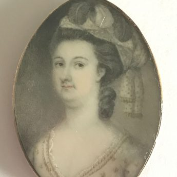 Miniature portrait of Sophia Maria Jane Bonnell (b.1748)