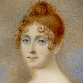 Miniature portrait of Elizabeth Jane Westland by Herve