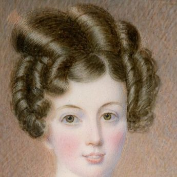 Portrait miniature of Miss Gunning by American artist, George Freeman, 1831