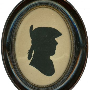 Hollow-cut silhouette by Mrs Sarah Harrington, 1775