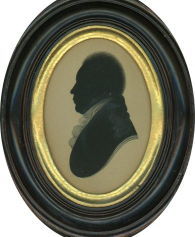 Silhouette of a Gentleman Painted at Bullock's Museum in Liverpool, circa 1806.