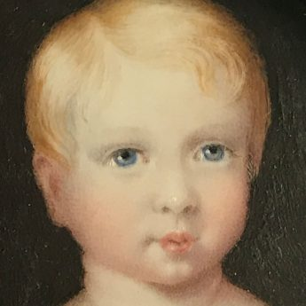 Miniature portrait of an aristocratic child