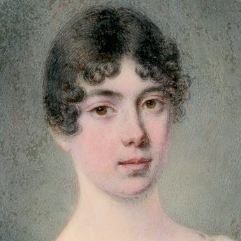 Miniature portrait of Sarah Reynolds painted by J. C. D. Engleheart