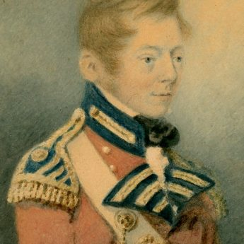Watercolour portrait of Col. Grant painted by J. Robertson in 1805