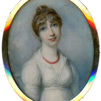 Miniature portrait of Lady Mary Henrietta Juliana Pelham by Richard Cosway