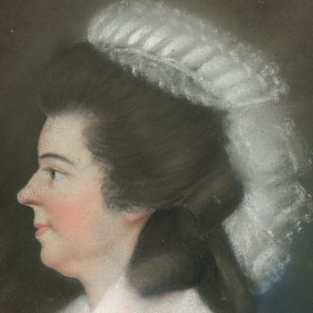 Pair of pastel portraits attributed to James Sharples