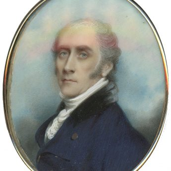 Portrait miniature of a distinguished-looking gentleman painted by Andrew Plimer