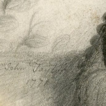 Plumbago drawing of a young gentleman by John taylor, signed and dated 1771