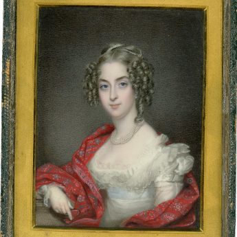 Miniature portrait of a pretty young lady by Charles Jagger