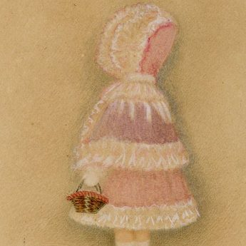 Charming watercolour portrait of a little girl attributed to Mrs Young