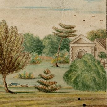Charming 19th century watercolour of Whitminster House