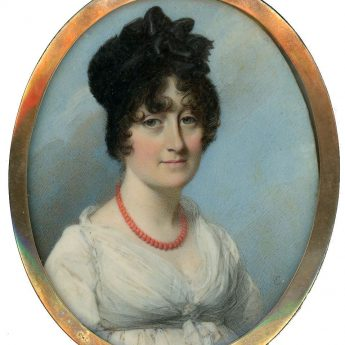 Fine miniature portrait of a lady by George Engleheart, signed and dated 1805