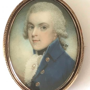 Miniature portrait of a naval gentleman by Samuel Shelley