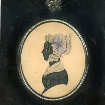 Painted and gilded silhouette of a lady by John Dempsey