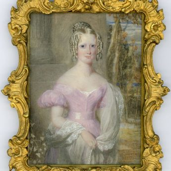 Portrait miniature of a young lady by henry Hawkins RA, signed and dated 1834