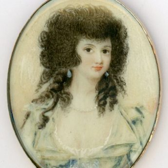 Miniature portrait of a young lady painted in 1786