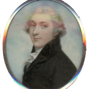 Portrait miniature of a distinguished gentleman by Andrew Plimer
