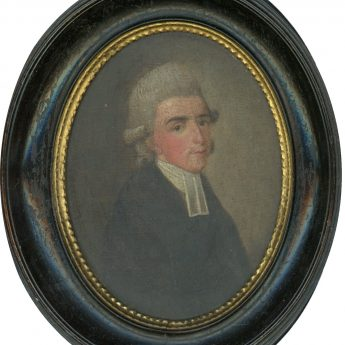 Small oil portrait of the Rev. Sydenham Teast Wylde, dated 1778