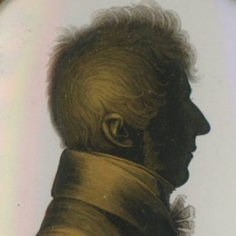 Fine silhouette painted on plaster by John Field working alongside John Miers