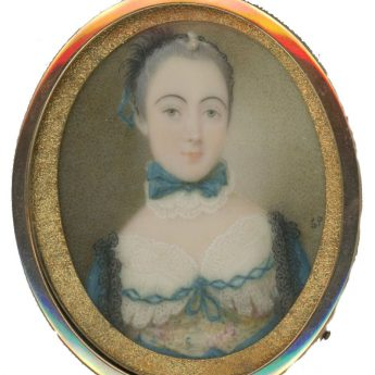 Miniature portrait of Lady Anne Beresford painted by Simon Pine