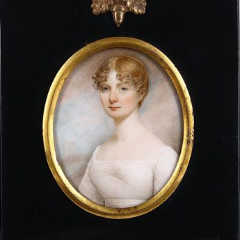 Fine portrait miniature of a young Regency lady