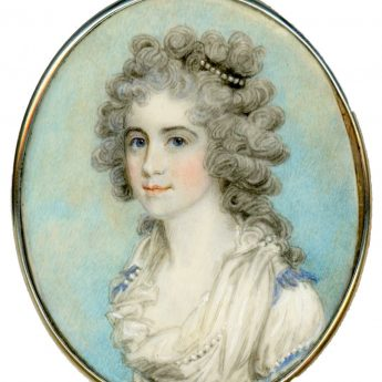 Portrait of a lovely young lady by Samuel Shelley