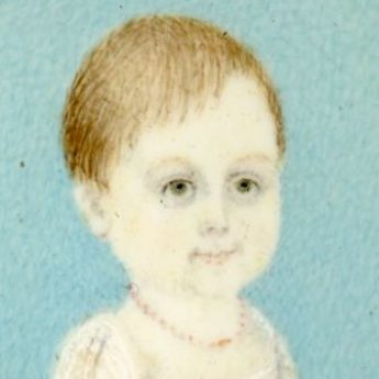 Charming naive miniature portrait of little Edward Yorke