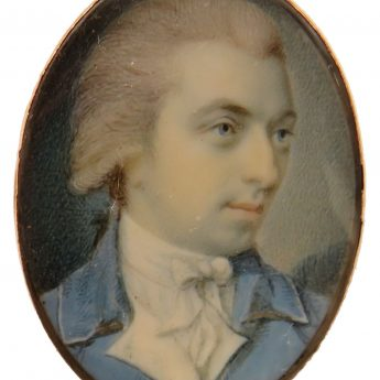 Miniature portrait of a gentleman painted by irish artist, Charles Robertson