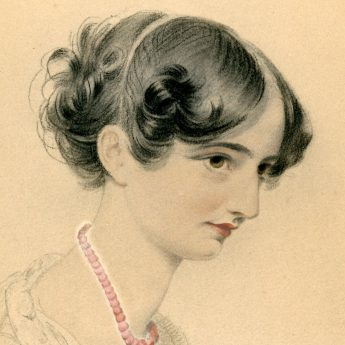 Pencil and Watercolour Portrait of Sophia Lonsdale