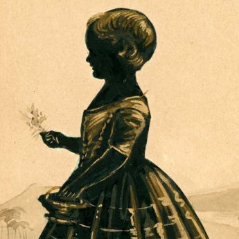 Cut and gilded silhouette of Isabella Henderson Thomson