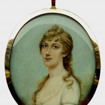 Miniature portrait of a young lady by Irish-born Sampson Towgood Roch