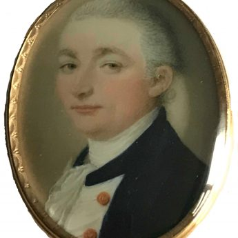Miniature portrait of a naval officer