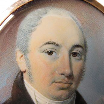 Miniature portrait of a gentleman painted by Thomas Richmond