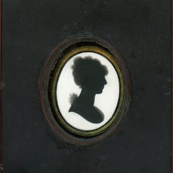Miniature silhouette painted on ivory by John Miers