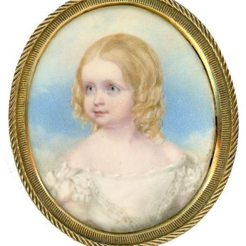 A delightful portrait miniature of Bertha Boulderson painted around 1843