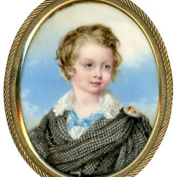 A delightful portrait miniature of Samuel Boulderson painted around 1843