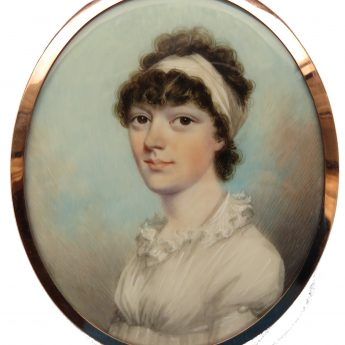 Miniature portrait of a lady by Nicholas Freese