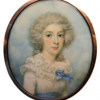 Miniature portrait of a young lady by William Armfield Hobday