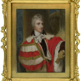 Colourful portrait miniature of Peter Leopold Nassu, Earl Cowper