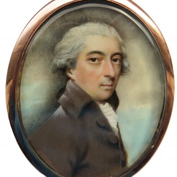 Miniature portrait of an unknown gentleman by Andrew Plimer